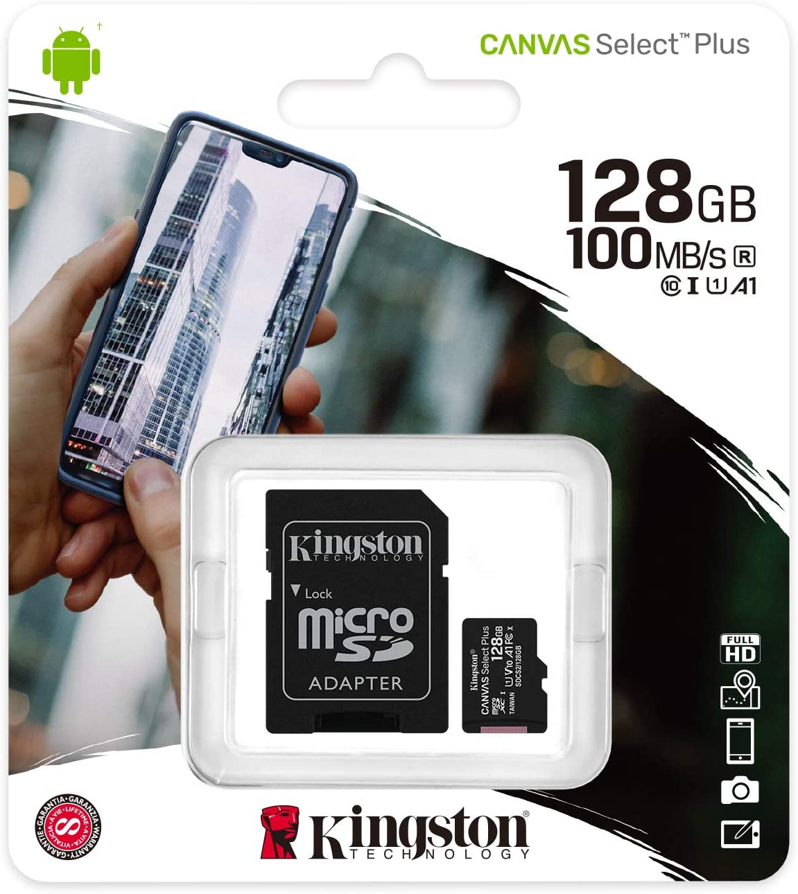 MEM. CARD KINGSTON  microSDCS2 128GB PLUS