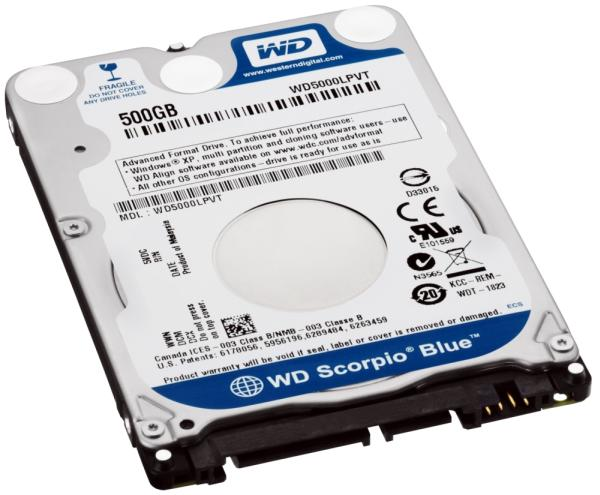 HD WD5000LPVT 2.5 500GB 5400rpm 7mm