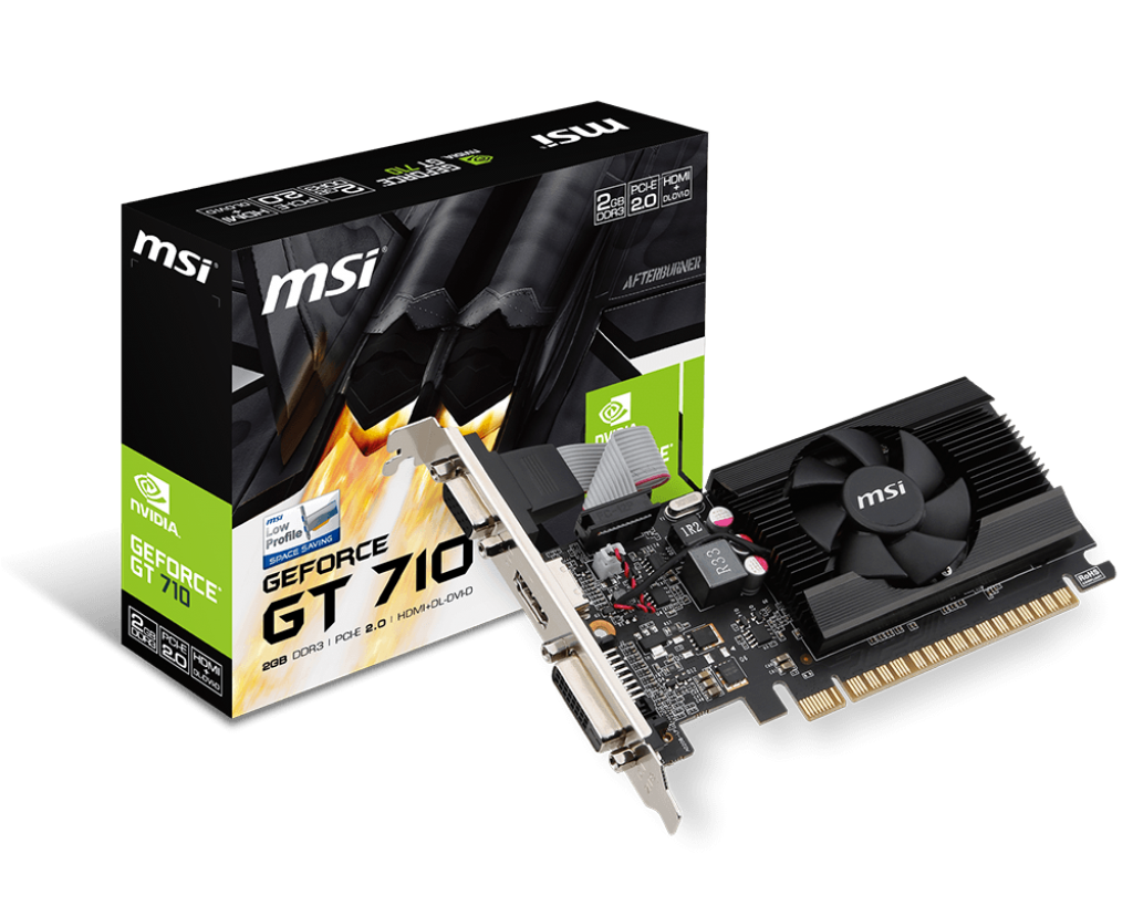 VD MSI GEFORCE GT710 1GB GDDR3 LP PCIe