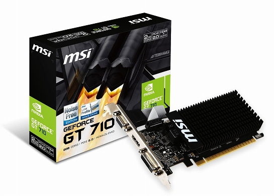 VD MSI GEFORCE GT710 2GB GDDR3 LP PCIe