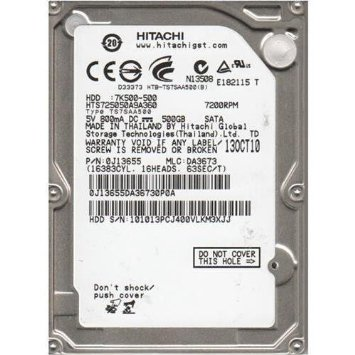 HITACHI 2.5 HGST 500GB 32MB 7200 SATA6