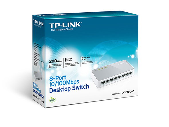 SWITCH 8 PORTE 10/100 TP-LINK TL-SF1008D