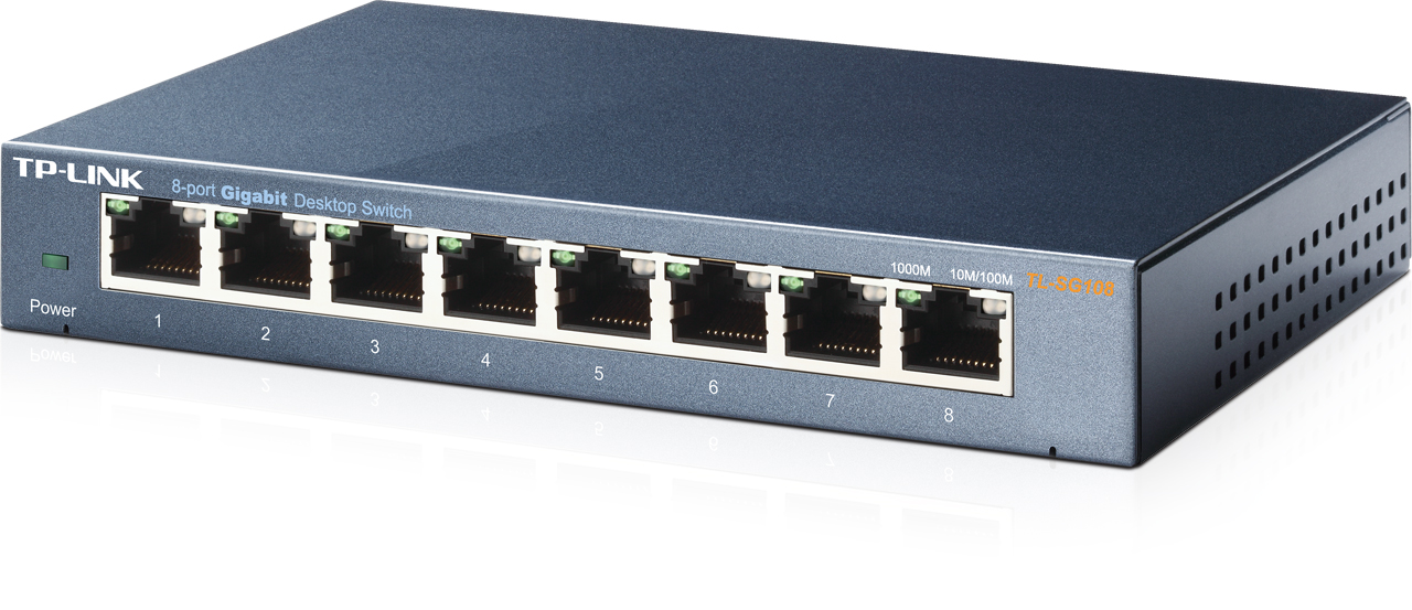 SWITCH 8P 10/100/1000 TP-LINK TL-SG108E