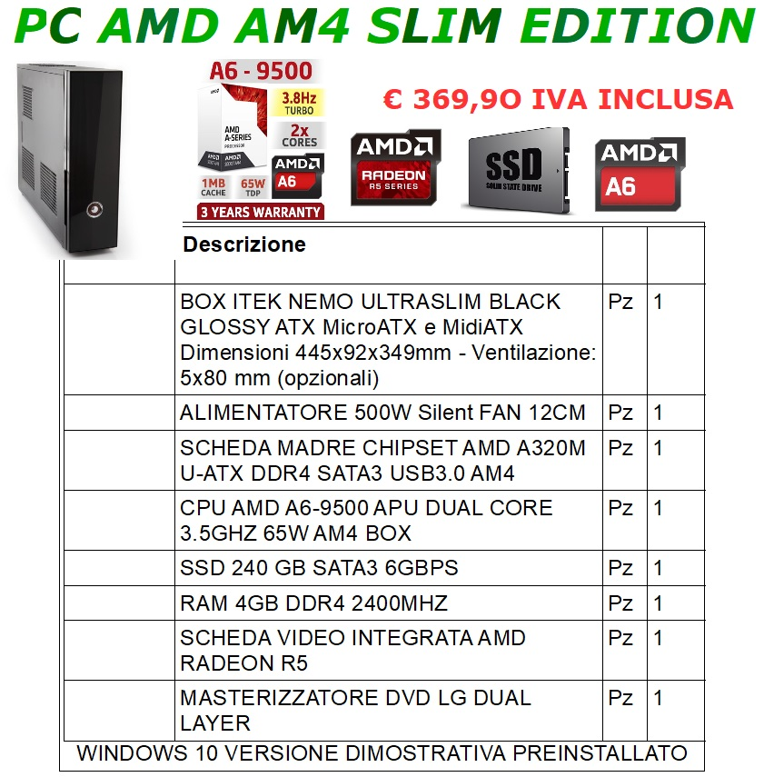 PC AMD AM4 SLIM EDITION