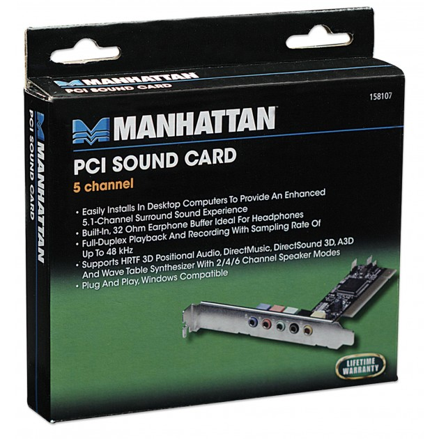 SCHEDA AUDIO 5.1 PCI MANHATTAN RETAIL