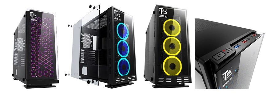 BOX ITEK COSMIC 19 RGB BLACK WINDOW ATX