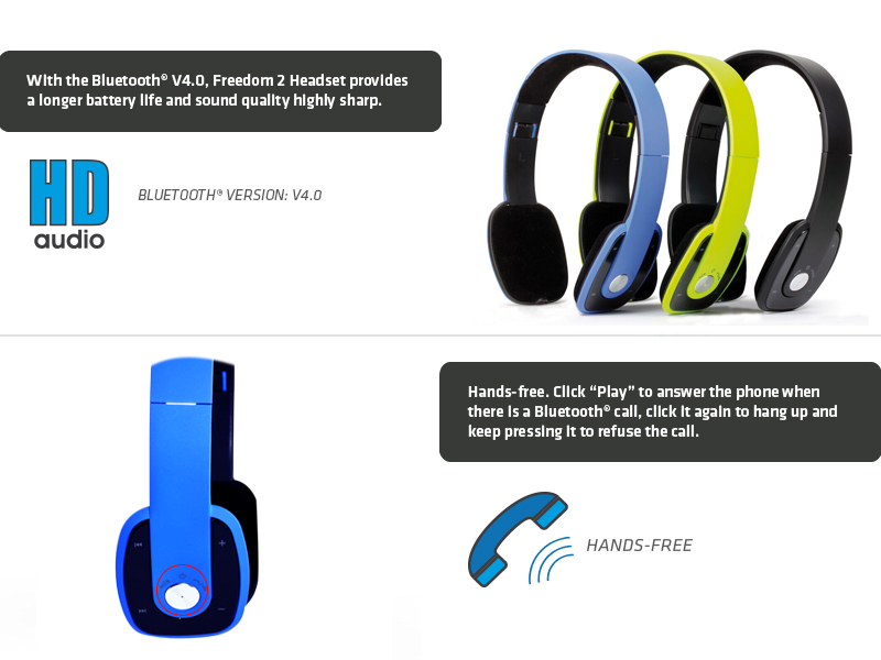 CUFFIA BLUETOOTH ADJ FREEDOM 2 STEREO