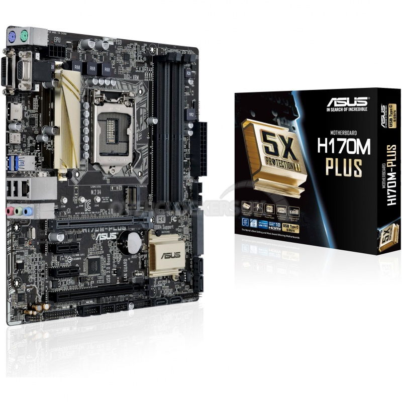 MB ASUS H170M-Plus socket 1151 uATX