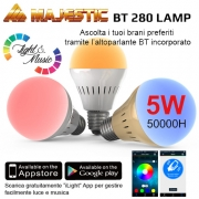 LAMP BT 280 MULTICOLOR BLUETOOT LED E27