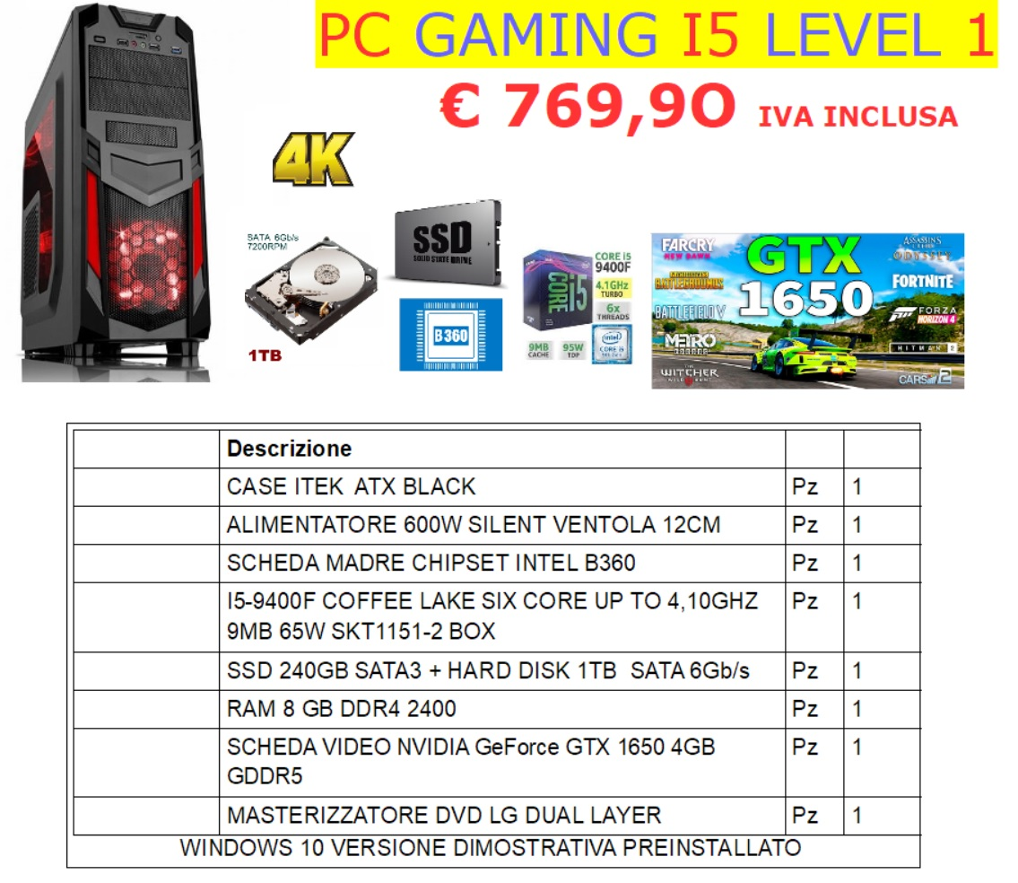 PC GAMING I5 LEVEL 1