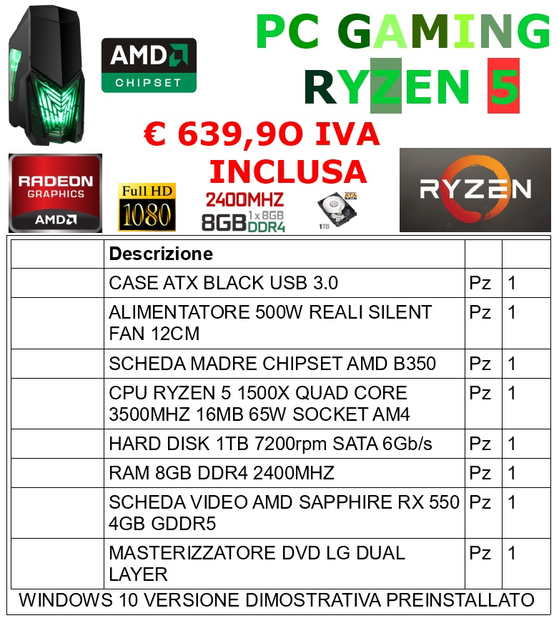 PC GAMING RYZEN 5