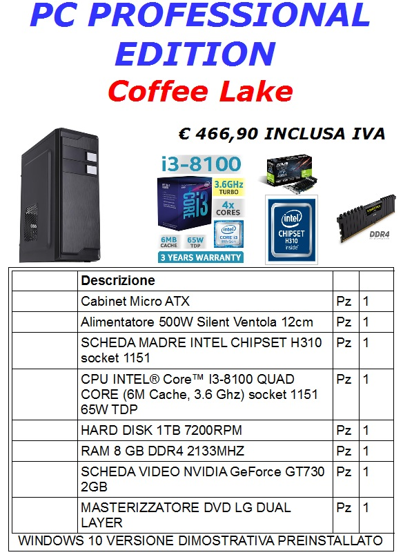 PC PROFESSIONAL EDITION COFFEE LAKE