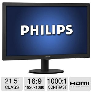 MONITOR PHILIPS 223V5LHSB2 HDMI 22  5Ms