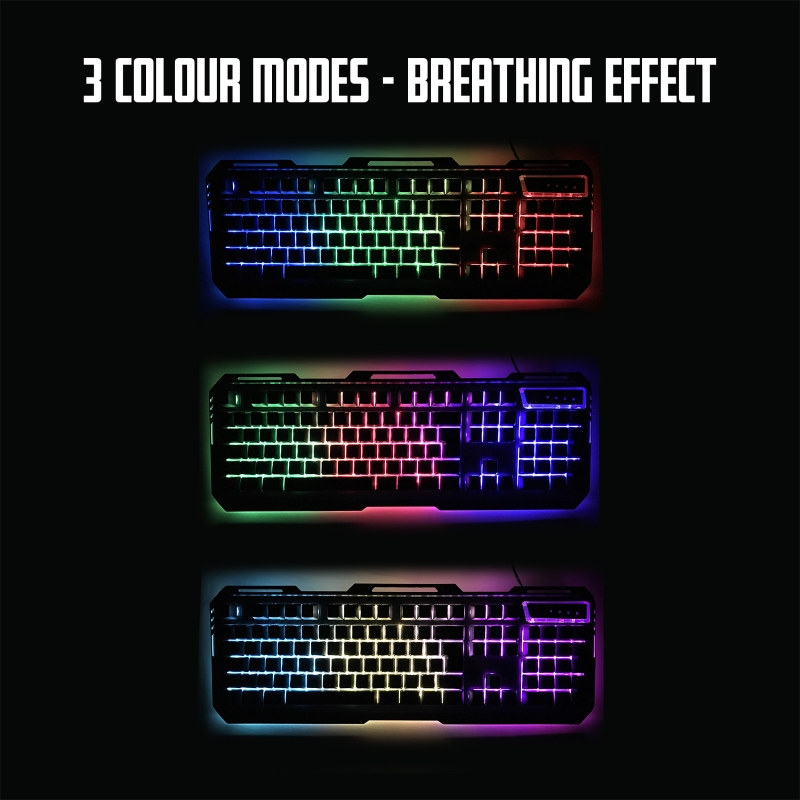 TASTIERA GAMING RGB METAL DESIGN PL3311