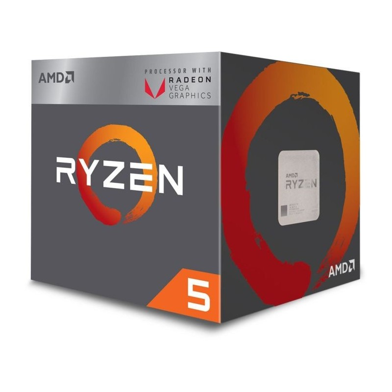 CPU RYZEN5 2400G QUAD-CORE 3.6GHz 4MB VESA GPU