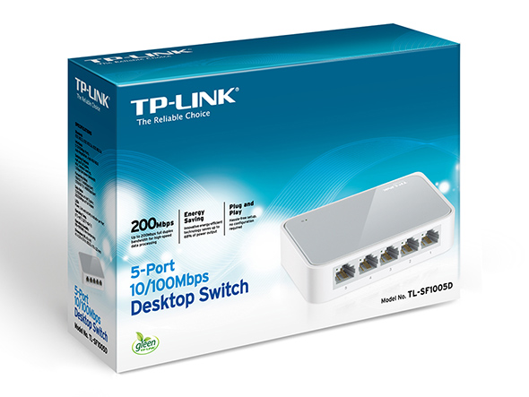SWITCH 5 PORTE 10/100 TP-LINK TL-SF1005D