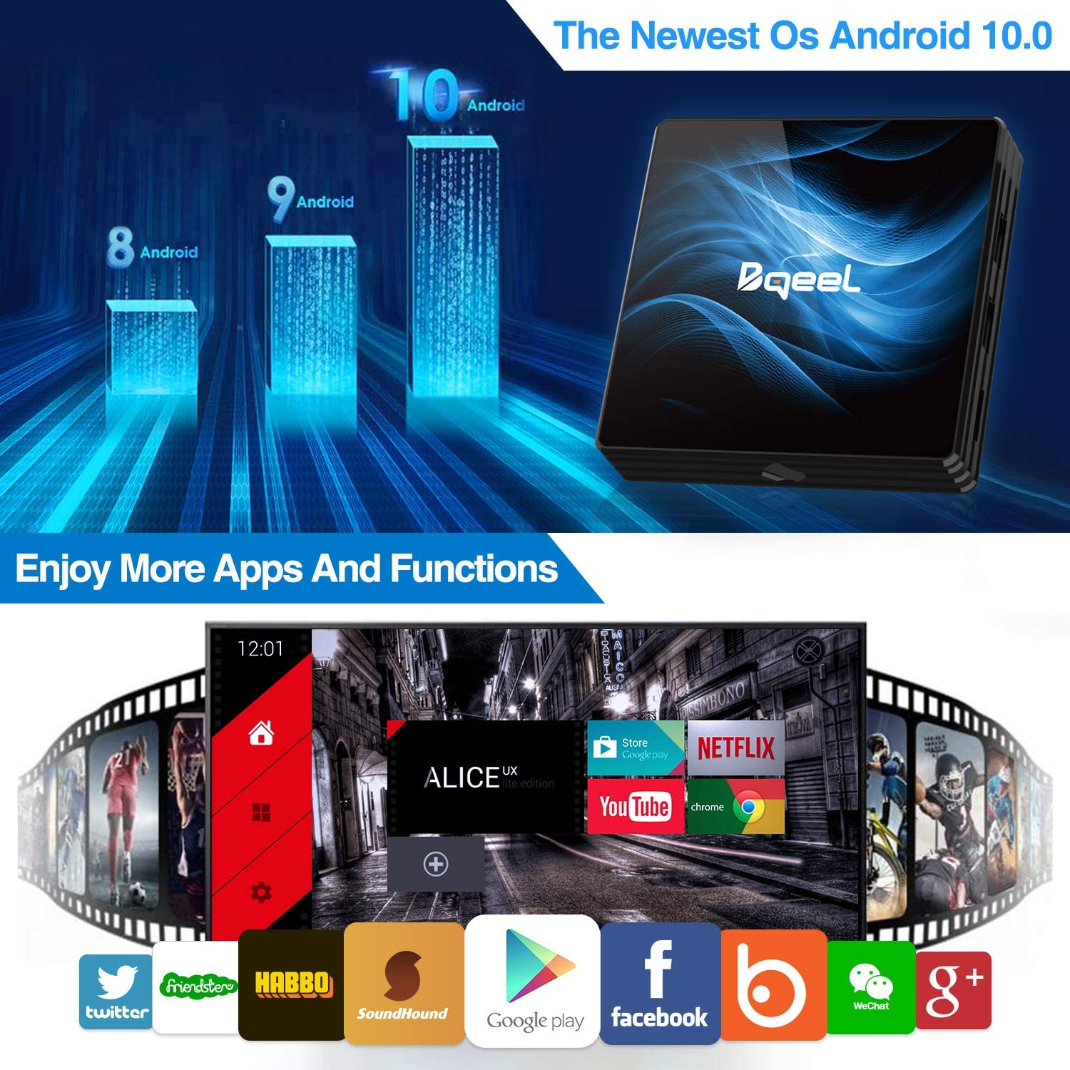 LINQ BOX  ANDROID 4X  HDMI - WiFi 8GB T95MAX