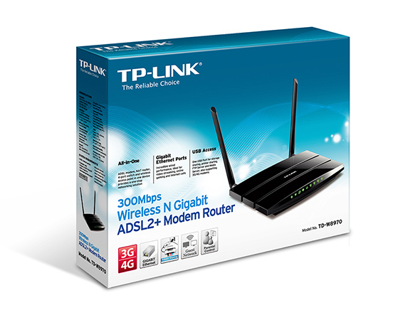 MODEM/ROUT. WiFi TP-LINK TD-W8970 300Mbs