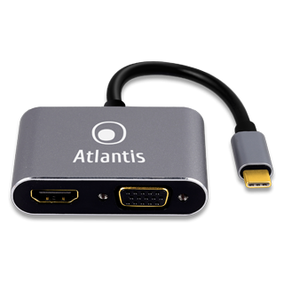 TYPE-C TO HDMI + VGA  ATLANTIS