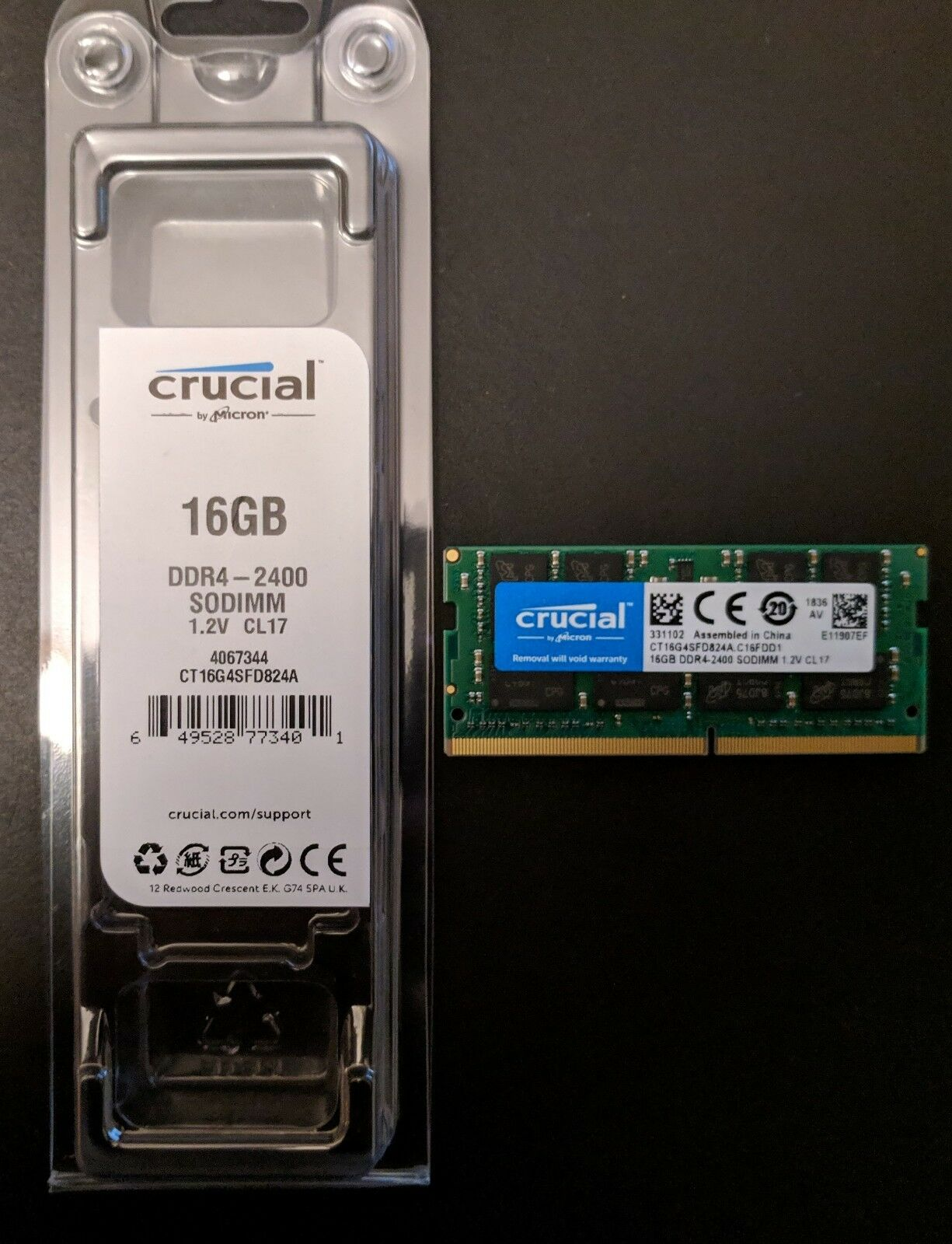 MEM CRUCIAL 16GB 2400MHz  DDR4 CL17 NOTEBOOK