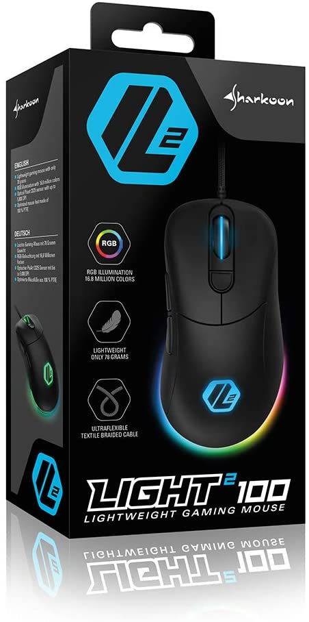 MOUSE GAMING SHARKOON LIGHT2 100 USB 78Gr