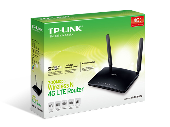 ROUTER 4G WiFi 300 TP-LINK TL-MR6400