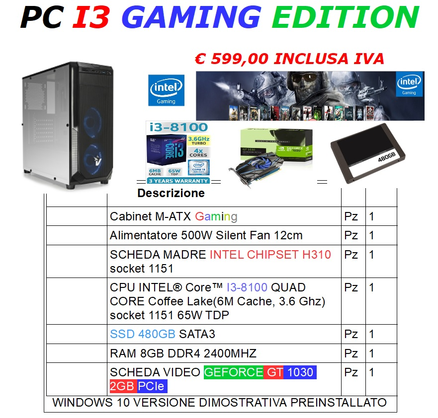 PC I3 GAMING EDITION