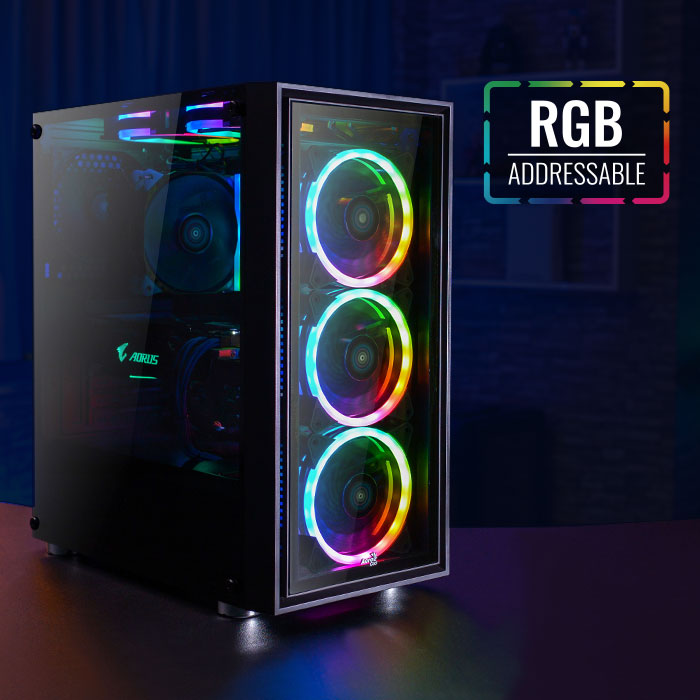 BOX AEROCOOL QUARTZ RGB FULL ATX USB 3.0