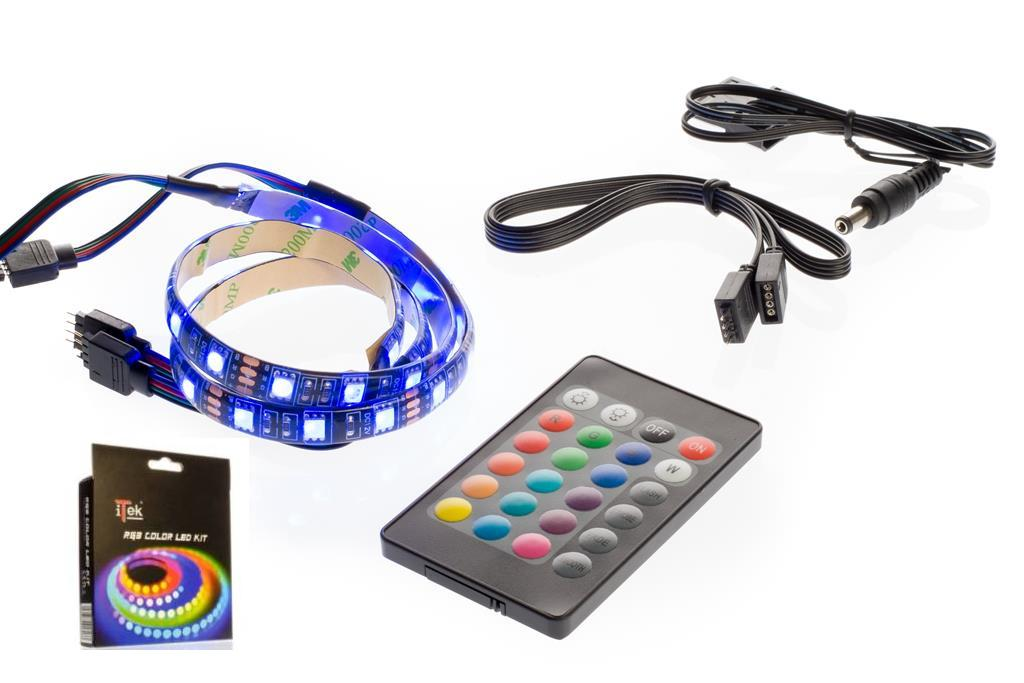 STRISCE LED MULTICOLOR 30CM 18LED ITEK