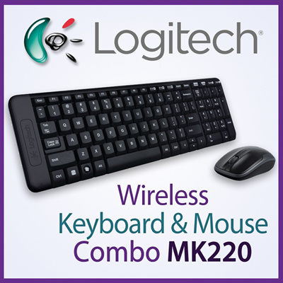 KIT LOGITECH TAST+MOUSE WIRELESS MK220